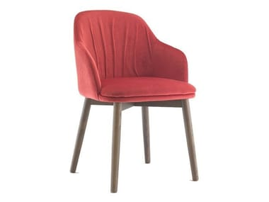 Fabric easy chair with armrests MANHATTAN