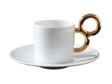 Porcelain tea cup with saucer MANIÉRISTE | Tea cup