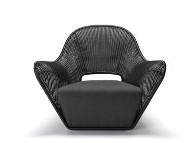 Polyethylene armchair with armrests MANTA OUTDOOR
