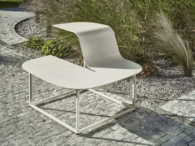 Galvanized steel outdoor chair MANTA