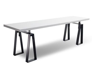 Rectangular wood veneer table MANU 12