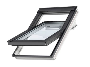Centre-pivot Manually operated roof window MANUAL GGL - WHITE WOOD
