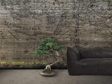 Papel de parede panorâmico com escrita MAP