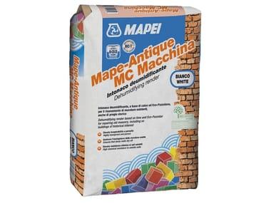 Malta per intonaci deumidificanti macroporosi MAPE-ANTIQUE MC MACCHINA