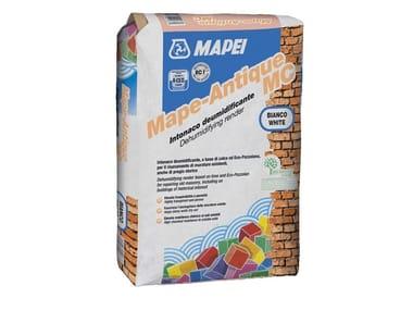 Malta per intonaci deumidificanti macroporosi MAPE-ANTIQUE MC