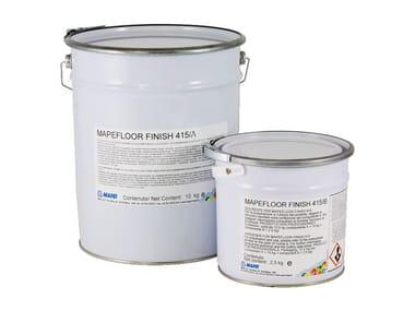 Finitura poliuretanica aromatica colorata per pavimenti MAPEFLOOR FINISH 415