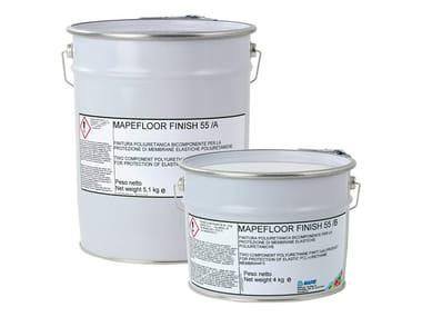 Finitura poliuretanica alifatica bicomponente MAPEFLOOR FINISH 55
