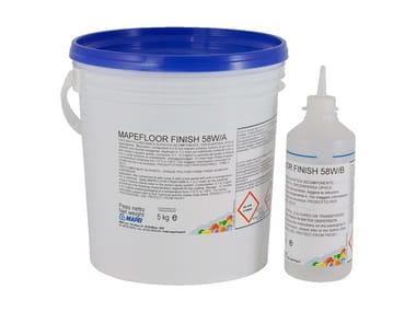 Finitura poliuretanica alifatica bicomponente MAPEFLOOR FINISH 58 W
