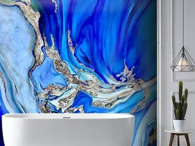 Indoor Kerlite® wall tiles MARBLE BLU