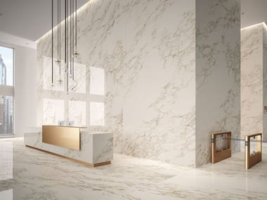 Porcelain stoneware wall/floor tiles with marble effect MARBLE EXPERIENCE