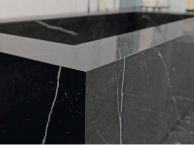 Porcelain stoneware kitchen worktop MARBLE