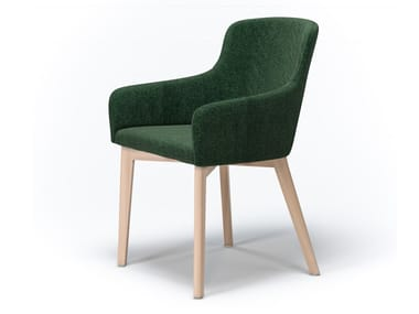 Upholstered fabric chair with armrests MARCO | Chair with armrests