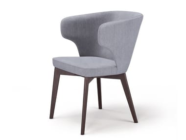 Upholstered fabric easy chair with armrests MARCO M2