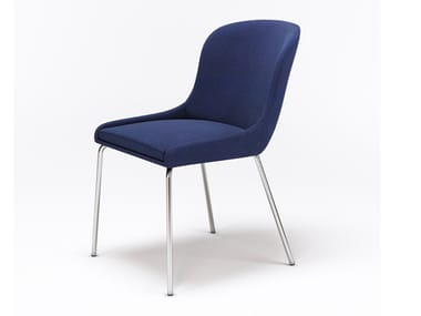Upholstered fabric chair MARCO L1