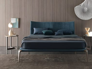 Fabric double bed MARGARETH | Fabric bed