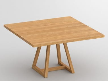 Square wooden table MARGO | Wooden table