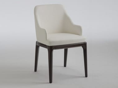 Leather chair with armrests MARGOT | Chair with armrests