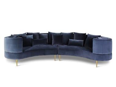 Curved Velvet Sofa MARGRET