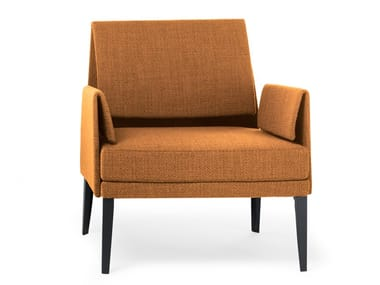 Upholstered fabric easy chair with armrests MARI' CLUB | Easy chair