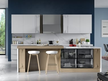 Built-in kitchen with enamel coating MARIA