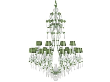 Direct light handmade Frosted Crystal chandelier MARIA THERESA CONTEMPORARY COLOUR