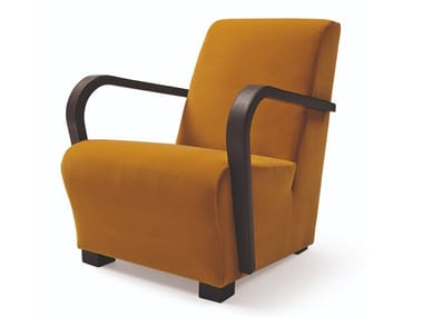 Rubber armchair with armrests MARILYN