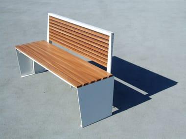 Panchina in legno e acciaio MARILYN | Panchina