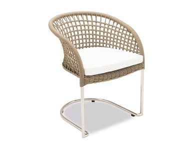 Cantilever garden chair with armrests MARINA | Cantilever chair