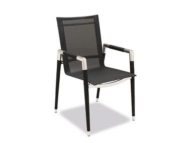 Garden chair with armrests MARINA | Garden chair