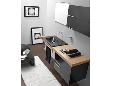 Mobile lavabo sospeso con cassetti MARIPOSA 27