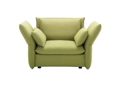 Fabric armchair with removable cover MARIPOSA LOVE SEAT