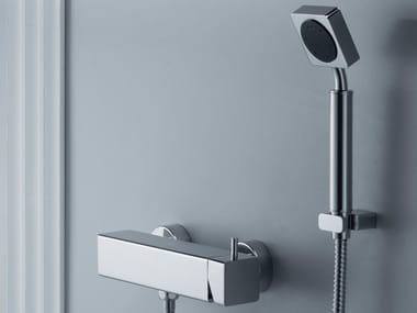Wall-mounted chromed brass handshower with hose MARK | Wall-mounted handshower
