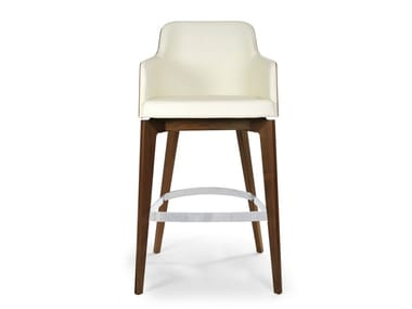Barstool with armrests MARLÈNE 200W STOOL WOOD