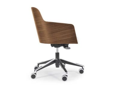 Swivel chair with 5-spoke base with castors MARLÈNE 200W OFFICE