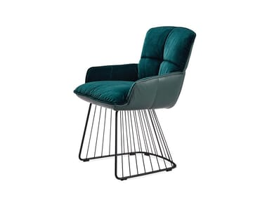 Chair with low armrests MARLA ARMCHAIR LOW