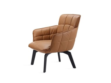 Easy chair with low backrest MARLA EASY CHAIR LOW