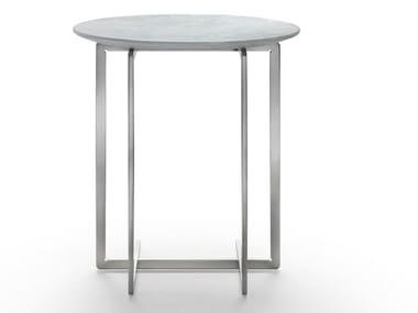 Mesa de apoio redonda de mármore MARMADUKE | Mesa de centro