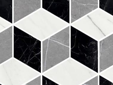 Mosaico in gres porcellanato MARMO LAB | Mosaico cube mix