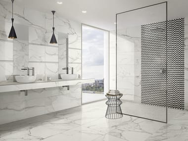 Porcelain stoneware wall/floor tiles with marble effect MARMOCHIC
