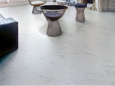 Porcelain stoneware wall/floor tiles with marble effect MARMOCREA ARABESCATO
