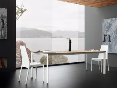 Extending rectangular dining table MARQUES
