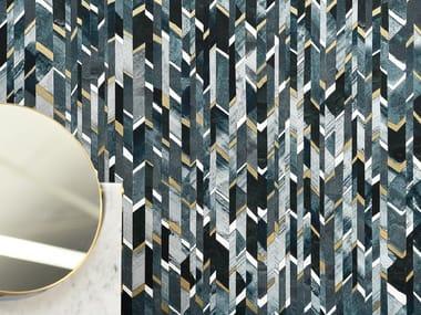 Geometric nonwoven wallpaper MARQUETERIE