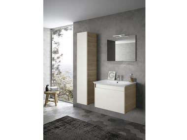 Wall-mounted vanity unit with mirror MARS 02