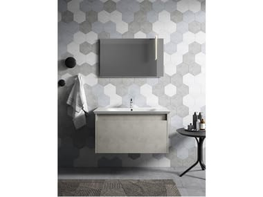 Wall-mounted vanity unit with mirror MARS 03