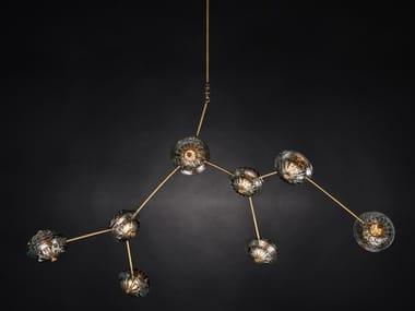 Lampada a sospensione a LED a luce diretta in vetro di Murano MARTHA