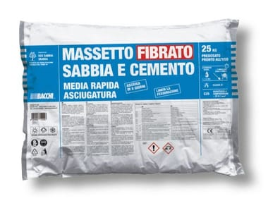 Massetto fibrato tradizionale in sacco predosato MASSETTO FIBRATO SABBIA CEMENTO