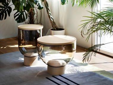 Round Murano glass coffee table MASTEA