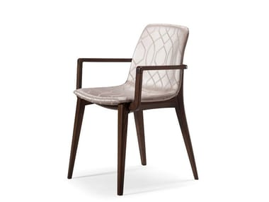 Fabric chair with armrests MASTER | Chair with armrests