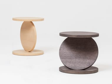 Round multi-layer wood coffee table MATCH POINT | Coffee table