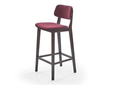 Fabric stool with integrated cushion MATE   Barstool